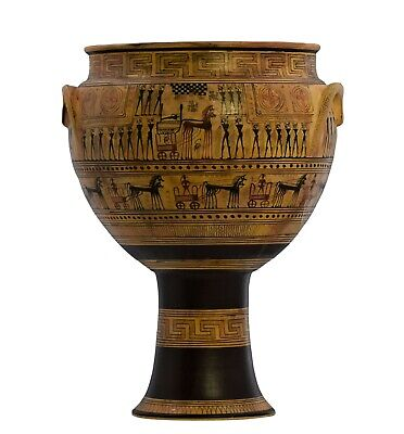 The Dipylon krater Geometric period Vase Ancient Greek Pottery Museum Copy