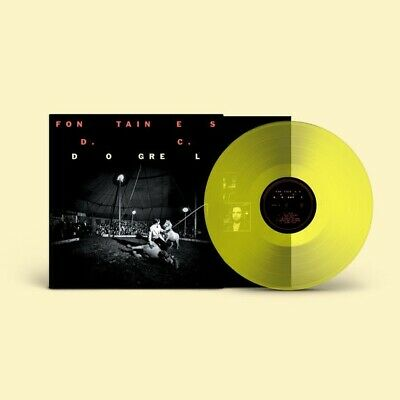 """Fontaines D.c. - Dogrel. Ultra Limited Transparent Yellow 12"""" Vinyl. Sealed. New"""