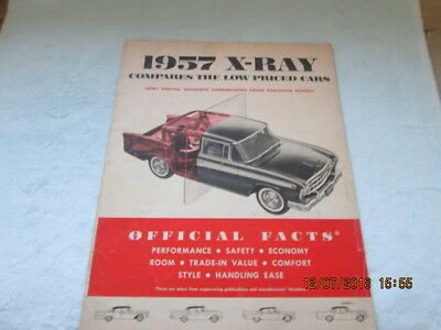 1957 AMC Rambler X-Ray  Compares the low priced cars. Ford  Chevrolet  Plymouth
