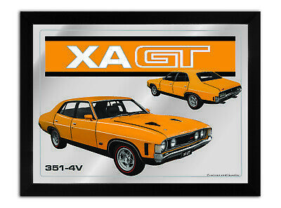Bar Mirror-Picture-Art Suit Xa Gt 4 Door Yellow Enthusiast A3 Size 450Mm X 350