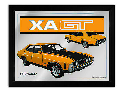 Bar Mirror-Picture-Art Suit Xa Gt 4 Sedan Yellow Enthusiast A3 Size 450Mm X 350