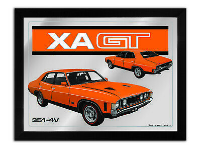 Bar Mirror-Picture-Art Suit Xa Gt 4 Door Orange Enthusiast A3 Size 450Mm X 350