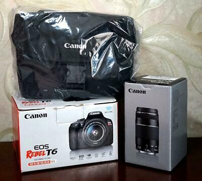 New Canon EOS Rebel T6 EF-S 18-55mm IS II Kit 18.0MP Black Camera
