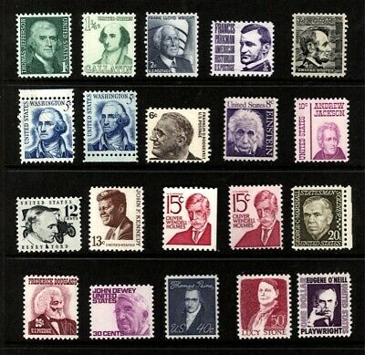 US Scott 1278-94 prominent Americans Mint NH up to $1.00