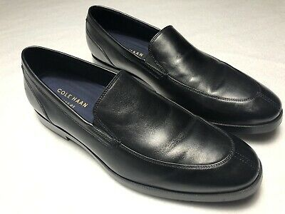 0c1be1d40ab Mens Cole Haan Size 10.5 W Jay Grand 2 Gore Leather Black Slip On Shoes  C25077