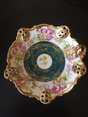 Beautiful Antique c1893-1914 AUSTRIA Imperial Crown China Candy Dish