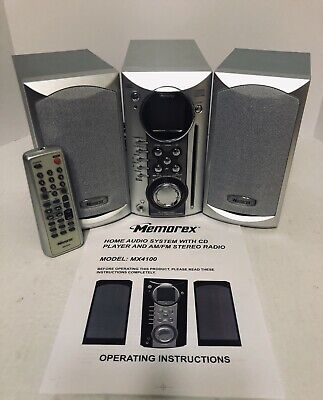 Memorex AM/FM Stereo Receiver CD Player, Color Changing Lights, MX-4100, Remote