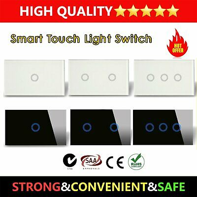 LIVOLO AU Standard Wall Touch Switch 1/2/3 Gang 1-Way Touch LED Light Switch