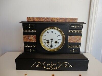 Antique Japy Freres French marble mantle clock, 19th century , working