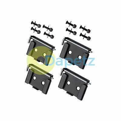 Quick-Release Workbench Caster Plates 4Pk 70x95mm(2-3/4 x 3-3/4) Cabinet Mounted