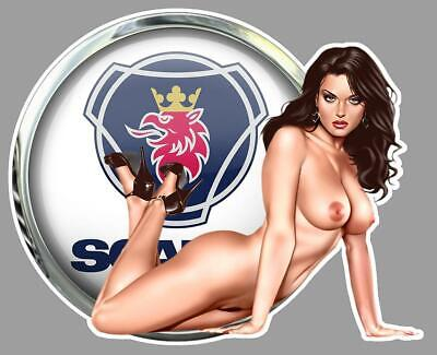 SCANIA PIN UP  right Sticker droite