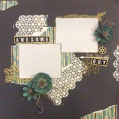 handmade scrapbook page 12 X 12 Love This Awesome Guy Layout