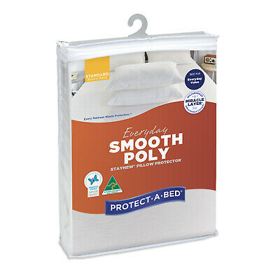 NEW Protect-A-Bed Everyday Poly Pillow Protector Standard