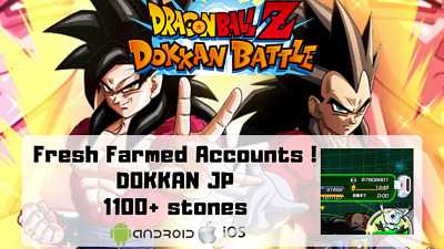 Dokkan Battle 1100+ Stones JP/GLB Farmed Accounts