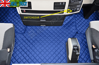 Man Tgx Truck Eco Leather Floor Mats Set - From 2018 - Blue