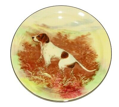 ROYAL DOULTON ornament Plate series ware  ' Pointer Dog ' D5769 1st Quality