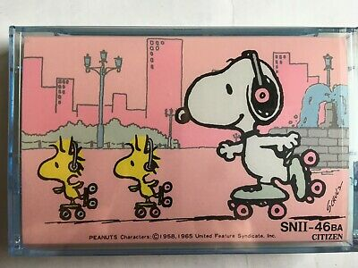 Citizen Snii-46Ba Snoopy Factory Sealed Audio Cassette Japan