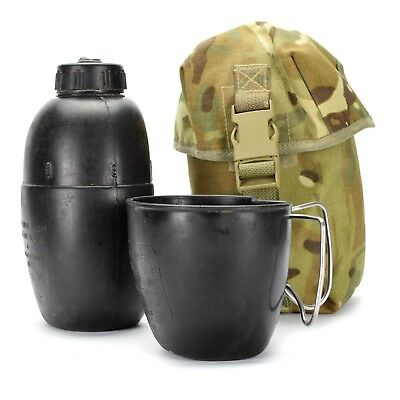 Authentic Yugoslavian Army Self Contained  Mess Kit 3-Piece Utensil Set 1-Liter