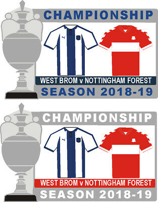 West Brom v Nottingham Forest Championship Matchday Pin Badge 2018-19