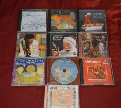 Lot of 10 Various Christmas Music CD's (6637L)