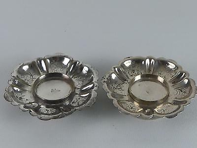 (Ref165CL) Antique Solid Silver Chinese Bowls