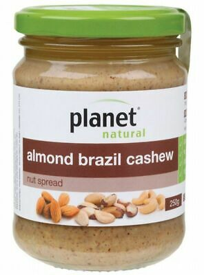 Planet Natural Almond Brazil Cashew Nut Spread, 250g