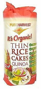 Pure Harvest Rice Cakes Thins with Quinoa 150g