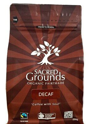 Sacred Grounds Coffee Decaf Plunger, 250g