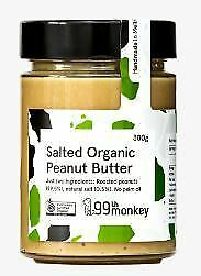 99Th Monkey - Salted Organic Peanut Butter, 300g - Case (6 units)