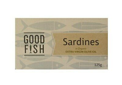 Good Fish Sardines in Extra Virgin Org Olive Oil Can, 120g Carton (10 units)