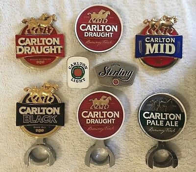 Carlton Draught, Mid, Black, Sterling, Pale, Light Beer Decal Top Badge New Old