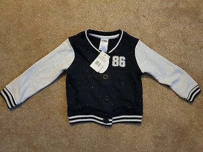 Brand new Baby boy bomber style cardigan 18-24 months