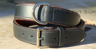 Leather Dog Collar Luxury Soft Padded Retriever Terrier Staffy Spaniel And Other