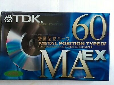 Tdk Ma-Ex 60 Metal Factory Sealed Audio Cassette Japan