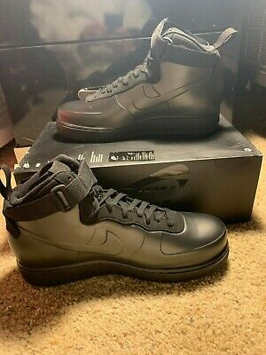 promo code d506a f7f0f Nike Air Force 1 Foamposite Cup Triple Black Men s AF1 Sneakers sz 10  AH6771 001