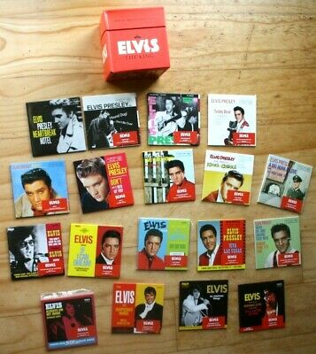 NM EX Elvis Presley The King: 18 Of The Greatest Singles Ever UK CD Box Set