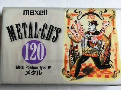Maxell Metal Cd's 120 Factory Sealed Audio Cassette Japan