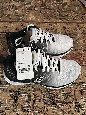 c93d8a4cbfbd Youth Boys  S SPORT BY SKECHERS Alen Athletic Sneakers Shoes Blk wht NEW  Size