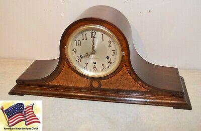 Fully Restored Seth Thomas Mahogany & Maple Antique Chime Clock No. 60-1936