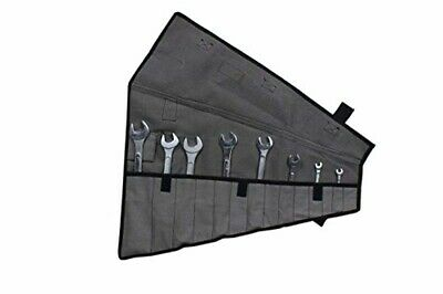 Roll Up Tool Pouch Wrench Socket Slot Organizer Canvas Tools 14 Pocket Waterproo