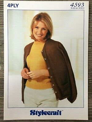 e301113358db5 Stylecraft Knitting Pattern  Ladies Cardigan and Top