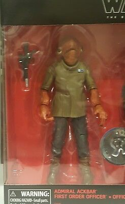 Star Wars The Black Series 6 Inch Admiral Ackbar ; From TRU Exclusive 2pack