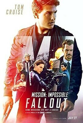 NEW Mission: Impossible - Fallout Movie Poster, 27x40 2-sided, Tom Cruise