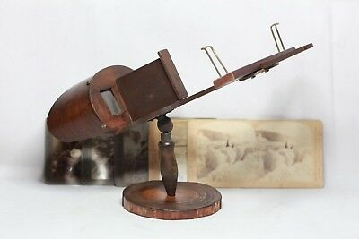 Antique J.Walker Stereoscope 3D Stereoviewer with 5x 3D Stereoview Pictures
