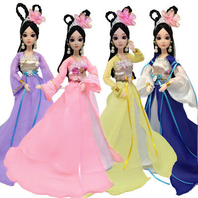 100% US Dolls Dress Up Hua Mulan Clothes Doll Accessories Handmade Clothing US