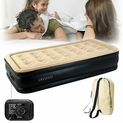 Inflatable High Raised Double Air Bed Mattress Builtin Electric Pump 7 Size Beds
