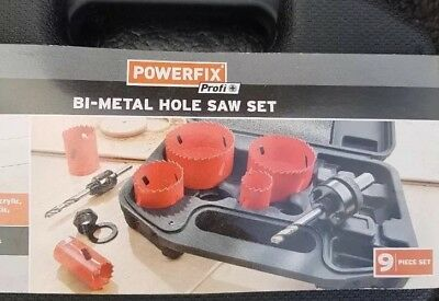 Hole cutter set 9pc Bi Metal HSS Hole saw Core Drill Bits  Plumbing  HS037