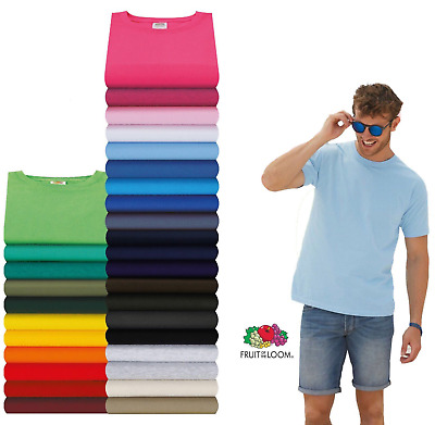 Fruit Of The Loom Plain Cotton Valueweight Tee T-Shirt S-M-L-XL-XXL