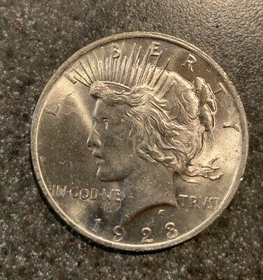 1923 Peace Silver Dollar BU Gem Uncirculated Lustrous Philadelphia Mint