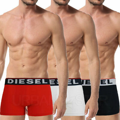 Diesel 3 Pack The Seasonal Boxer Trunks Mens Underwear Shorts Stretch Cotton Clothes, Shoes & Accessories
